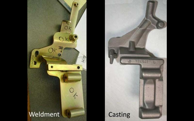 تبدیل قطعات تولید شده به روش جوشکاری به ریخته گری دقیق | کاهش ماشینکاری از طریق ریخته گری دقیق